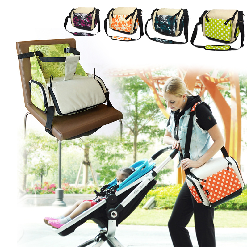 Portable Baby Feeding High Chair Diaper Bag Safety Children Dining Booster Seats Maternity Bag Baby Care Product Large Capacity