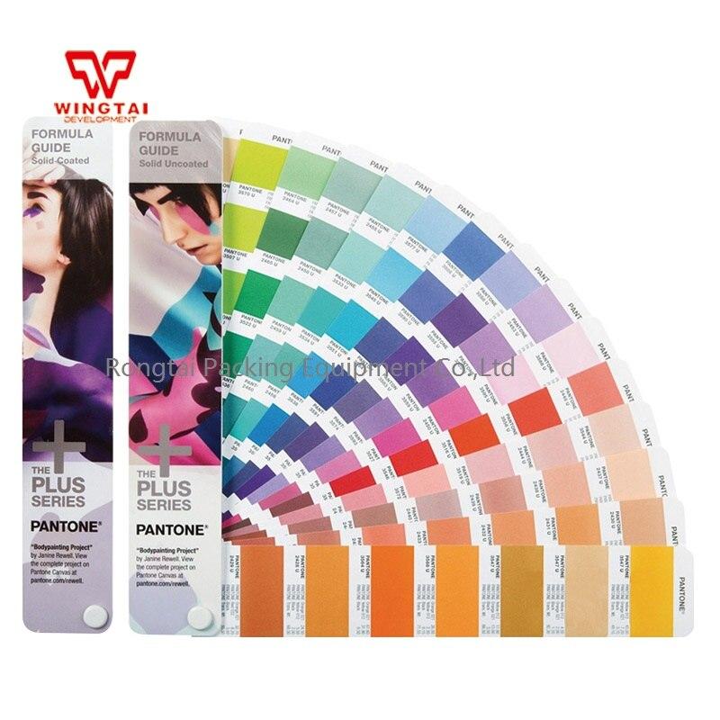 2 books/set Newest Pantone Solid Coated and Uncoated Formula Color Guide GP1601N instead of GP1601 все цены