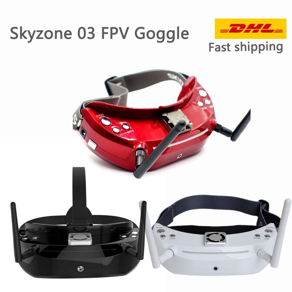 Skyzone SKY03 Rev 1.1 3D 5.8G التنوع FPV حملق w/DVR ، رئيس المقتفي 5.8G 48CH التنوع استقبال FPV نظارات-في قطع غيار وملحقات من الألعاب والهوايات على  مجموعة 1