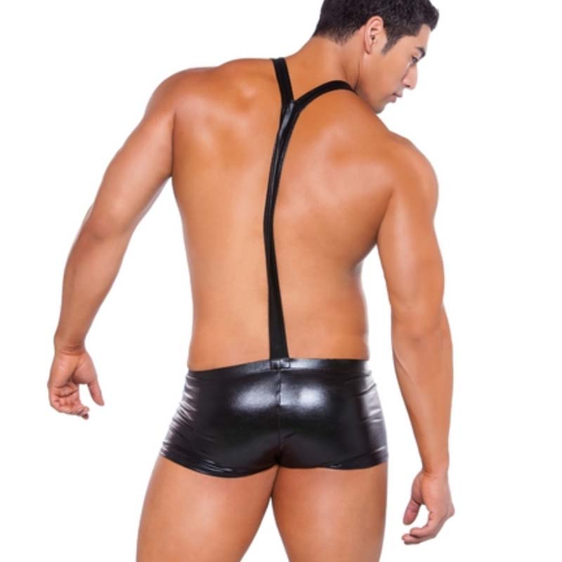 Mens Wrestling Singlet Lingerie Bodysuit Patent Leather Sexy Jumpsuits  Nightclub Stage Costumes Lingerie Mens Underwear Boxers-in Boxers from  Underwear ...