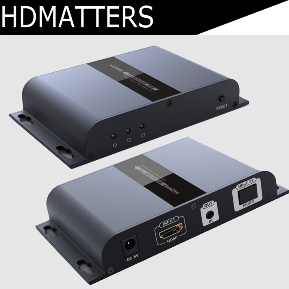 HDMI fiber extender repeater with IR control up to 20KM suport 1 transmitter to N receivers