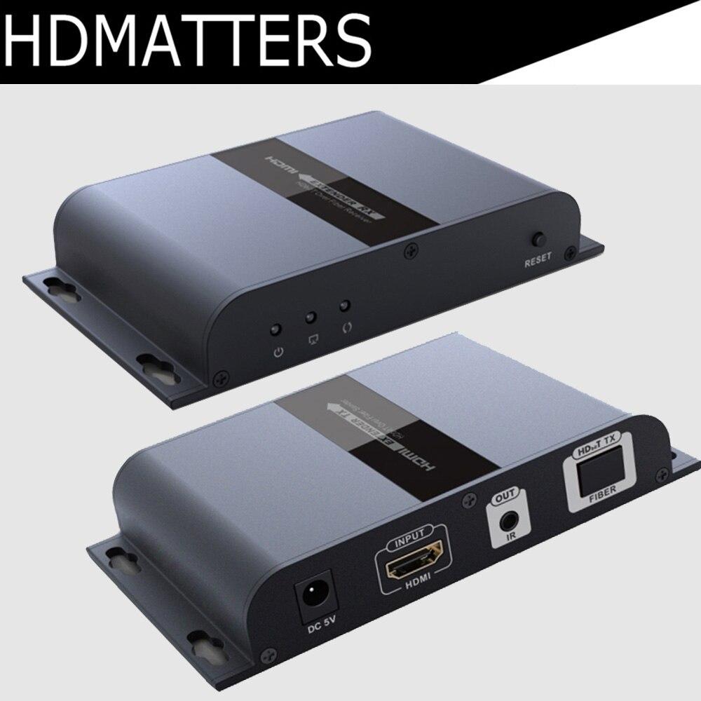HDMI fiber extender répéteur avec IR contrôle jusqu'à 20 km suport 1 émetteur à N récepteurs