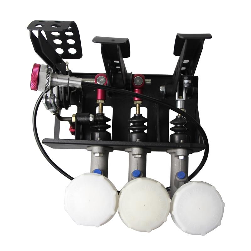 MOFE Produits OFFRE SPÉCIALE Monté Au Sol Hydraulique Pédale D'embrayage Boîte Avec L'équilibre Dash Ajusteur + 3 réservoir d'huile En Plastique