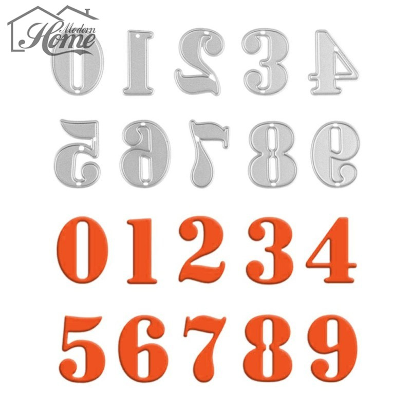 0 9 Numbers Metal Cutting Dies Stencils Crafts DIY Scrapbooking Album Decorative Embossing Paper Cards Template Die Cutting Tool in Cutting Dies from Home Garden