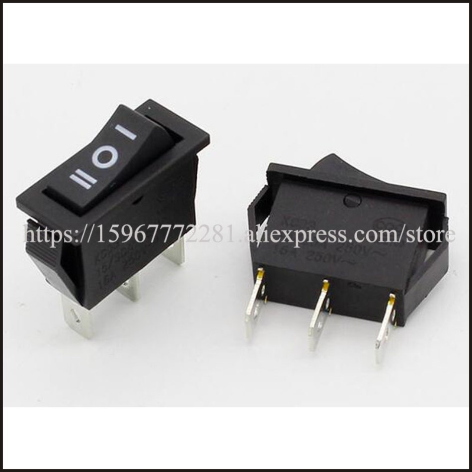 Waterproof 3-Position Rocker Switch Green LED ON//OFF//ON 6-Pin DPDT AC 10A//250V