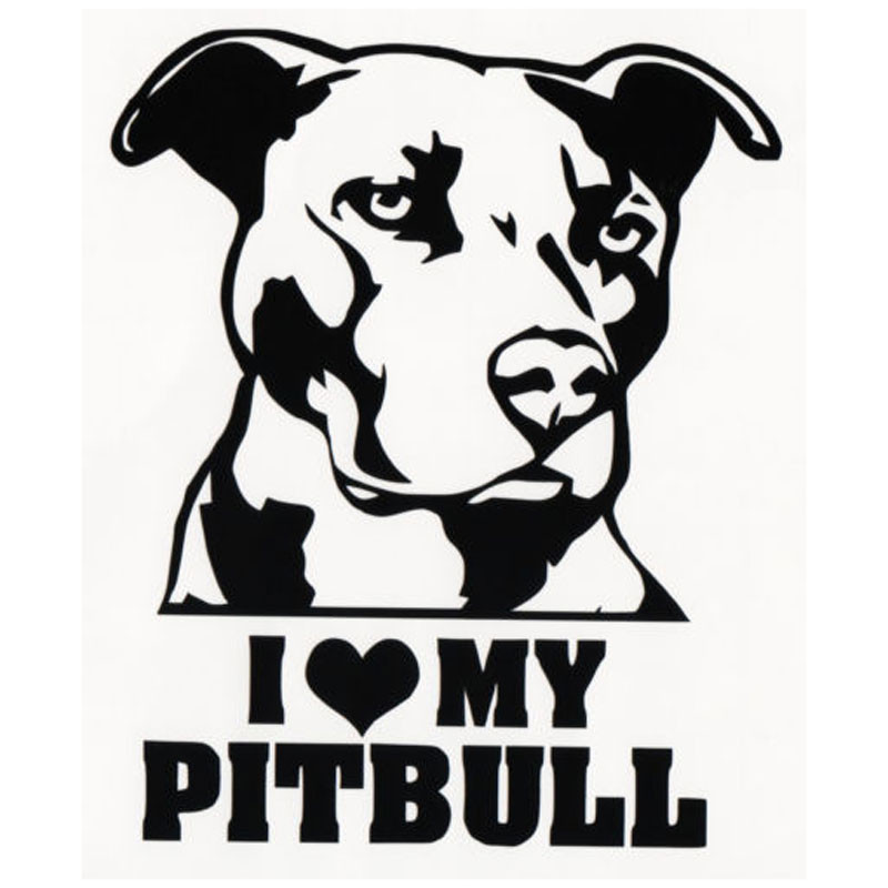13CM*15.5CM I LOVE MY PITBULL Vinyl Decal Sticker Car Motorcycle Styling