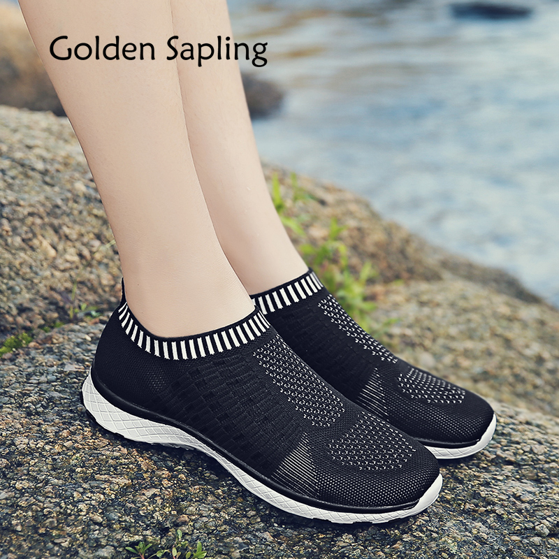 Golden Sapling Female Trainers Fitness Running Shoes Women's Sneakers Slip on New Womens Sport Shoes for Training Sneakers Women cross training shoes walking arder shoes for women leather sport shoes soled sneakers allmatch students flat shoes fitness