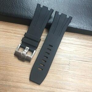 Image 3 - 30 ミリメートル防水ソフトゴムシリコーン時計バンド腕時計 Ap AP26400 44 ミリメートルケース腕時計オーデマとピゲベルト