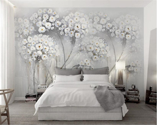 beibehang Custom personalized papel de parede 3d wallpaper and elegant aesthetic painting flowers Nordic Fashion TV background