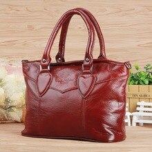 Genuine Leather Cowhide Women Fashion Tote Handbag Messenger Pack Travel Shopping Ladies Brand Famous Cross Body