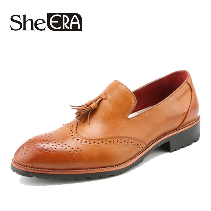 100% QualitäT Marke Echtem Leder Männer Schuhe Leder Solide Oxfords Mode Männer Casual Schuhe Büro Männer Frühling/herbst Plus Größe 38 -43 Dropship Aromatischer Geschmack