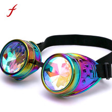 Feitong Kaleidoscope Colorful Glasses Women High Quality Rave Festival Party EDM Sunglasses Diffracted Lens Fashion Female(China)