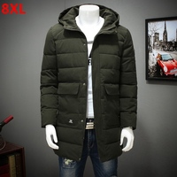 Large Size Men S Winter Coat Plus Code In The Long Paragraph Cotton Casual Loose Coat