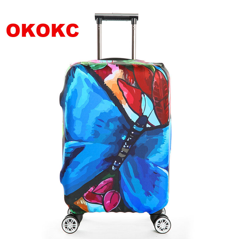 OKOKC Thick Travel Luggage Suitcase Protective Cover, Stretch, made for S/M/L/XL, Apply to 18-32inch Cases, Travel Accessories цена