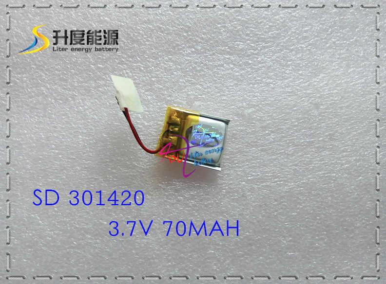 031420 301420 70 MAH MP3 Bluetooth headset kleine speelgoed batterij 3.7 V lithium batterij 37 V batterij
