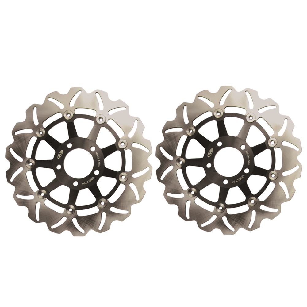 Pair Motorcycle Steel Front Brake Rotors Disc Braking Disks L/R for Suzuki GSX-R GSXR 750 1989-1995 1994 1993 1992 1991 1990