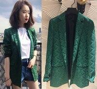 France style elegant jacquard blazers coat 2018 Fall winter runway Chic women's jackets coat tops D265