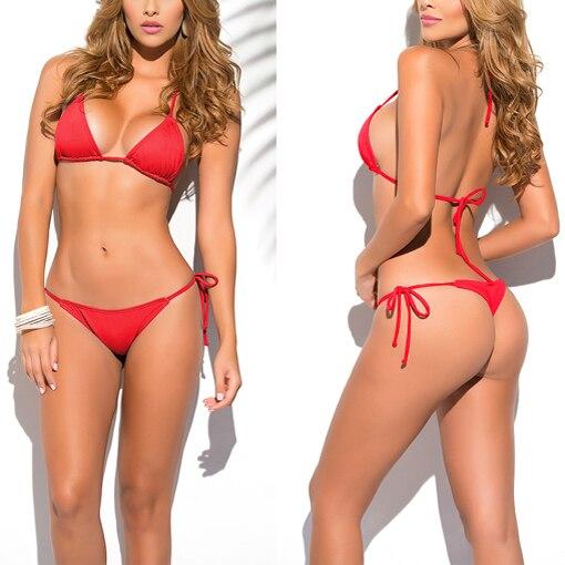 Solid Gold Classic Stringi Bikini stroje kąpielowe damskie Summer - Ubrania sportowe i akcesoria - Zdjęcie 3