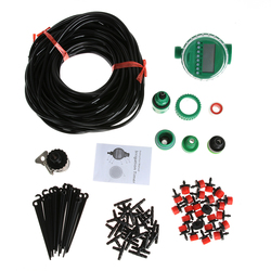 10/15/20/25 M DIY Micro Drip Auto Self Watering Machine Micro Drip Irrigation System Kit with 10drops(ordinary)+Timer