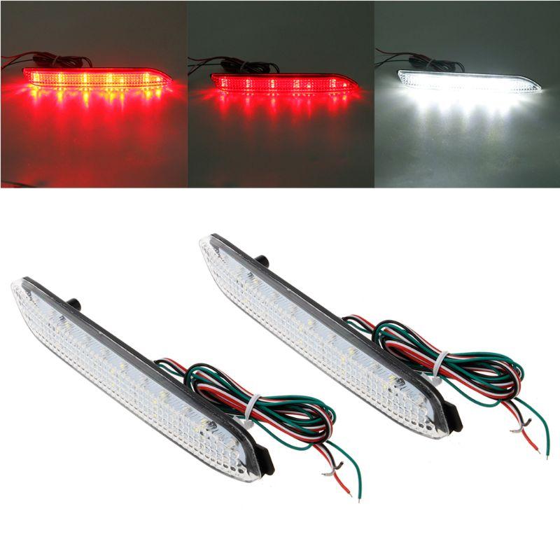 Car & Truck LED Light Bulbs 2x LED Brake Rear Bumper Reflector FTT ...