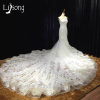 Trắng Mermaid Appliques Một Vai Vỏ Bọc Wedding Dress Custom Made Đen Womens Riyal Train Bridal Formal Maxi Gown Cộng Với kích thước