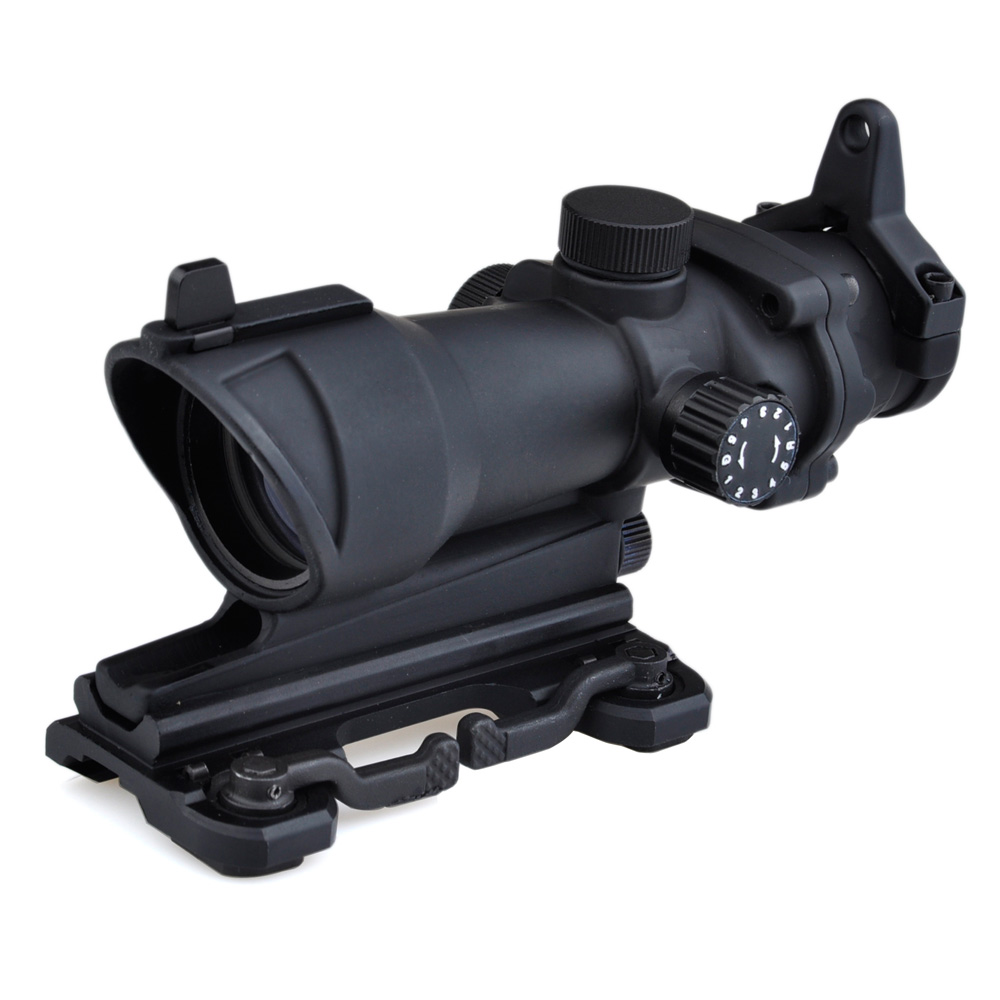 SEIGNEER Acog 4X32 Optical Scope Red/Green Reticle With QD Mount Sniper Riflescope Hunting Shooting Rifle Scope