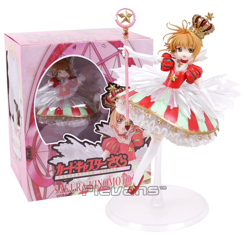 Card Captor Sakura Kinomoto Sakura 15th Anniversary 1/7 Scale PVC Figure Collectible Model Toy 1set 14cm pvc japanese anime figure sakura kinomoto battle costume ver cardcaptor sakura figfix 008 action figure collectible