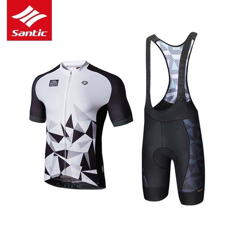 2018 Santic Велоспорт Джерси набор мужской дорожный Открытый Pro велосипед Костюмы Одежда дышащая одежда для езды на велосипеде Ropa Maillots Ciclismo