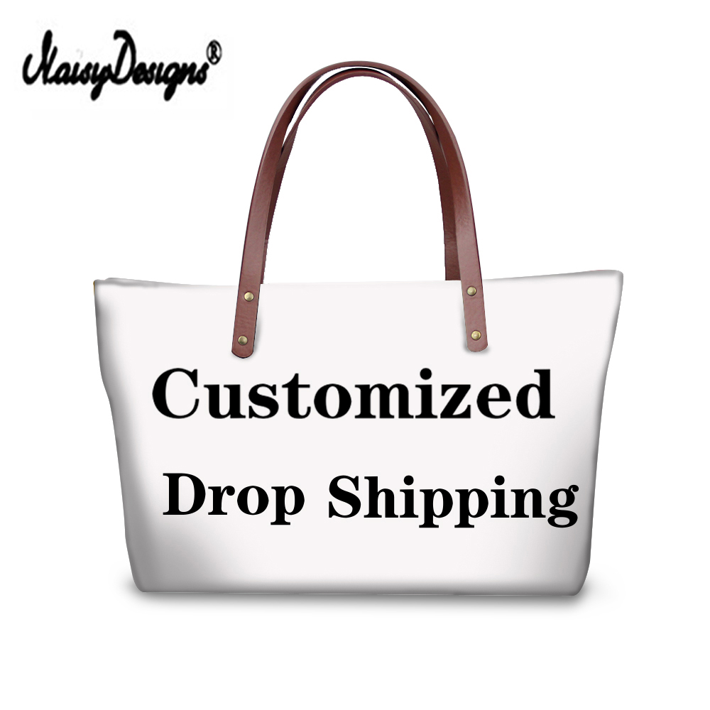 Noisydesigns 3D Customized Your Personalized Pattern Bags Drop Shipping Canvas Shopping Bag Women Large Handbags Tote Crossbody