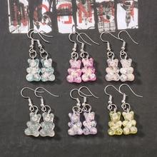 1pair Fashion Craft Resin gummy bear Drop Earrings For Women Japan/Korean Jewelry Wholesale
