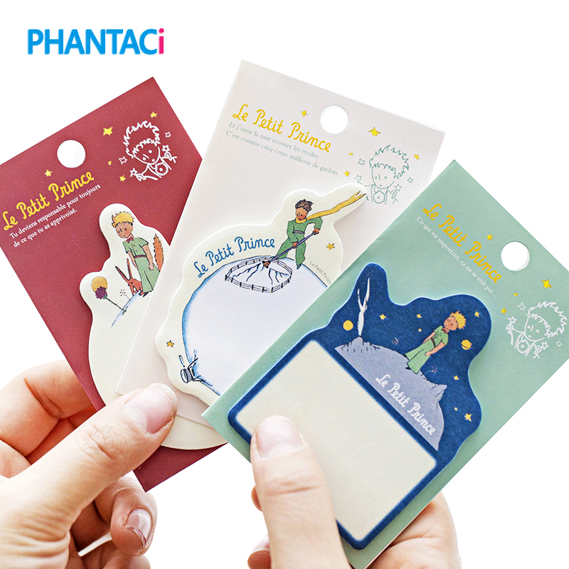 3 Pcs/lot Creative Le Petit Prince Sticky Notes Cute Cartoon Paper Memo Pad Sticker School Office Stationery Supplies