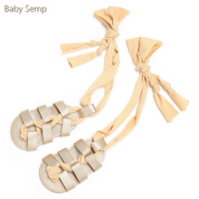 boots baby girl 2017 new fashion baby boys girls sandals romirus newborn summer shoes gladiator bandage roma kids walking shoes