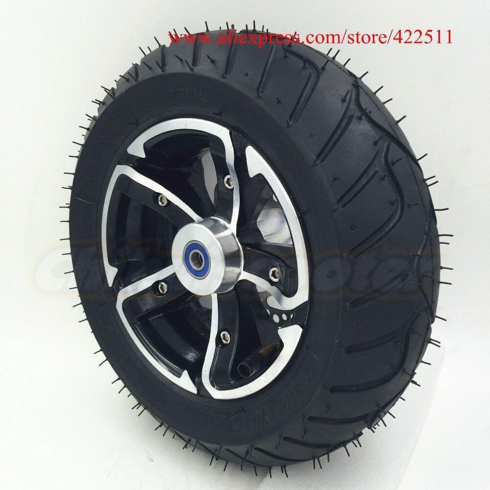 12 (D300mm) электрический скутер спереди Колёса с 90/65-6.5 на дороге шины/12 новый скутер переднее колесо с тормозной диск (scooter Запчасти) ...