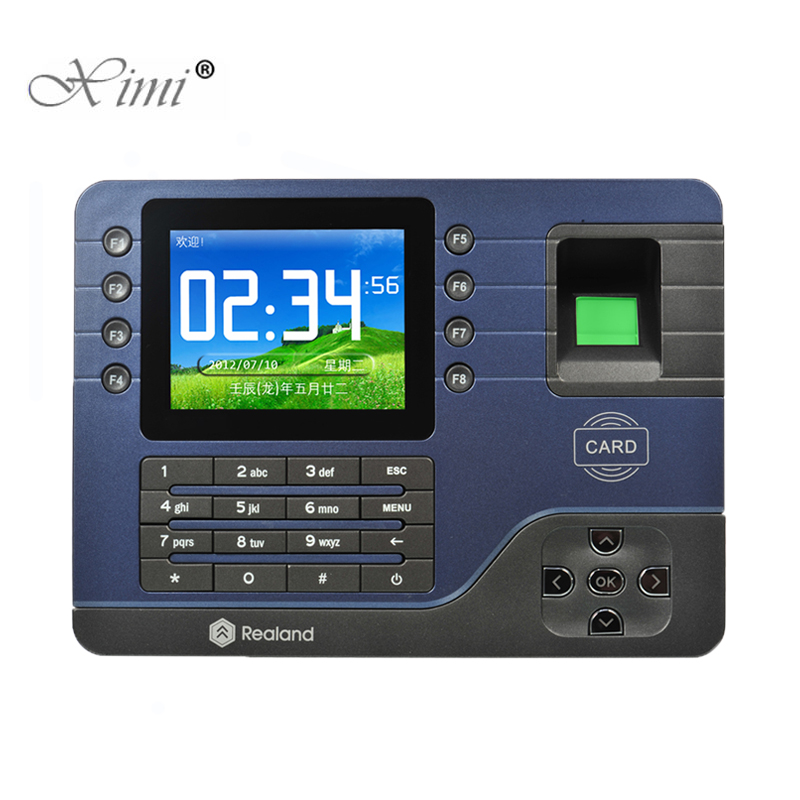 P2P Cloud Servicer Biometric Fingerprint And RFID Card Time Attendance Time Recording Realand A-C091 TCP/IP Fingerprint Reader