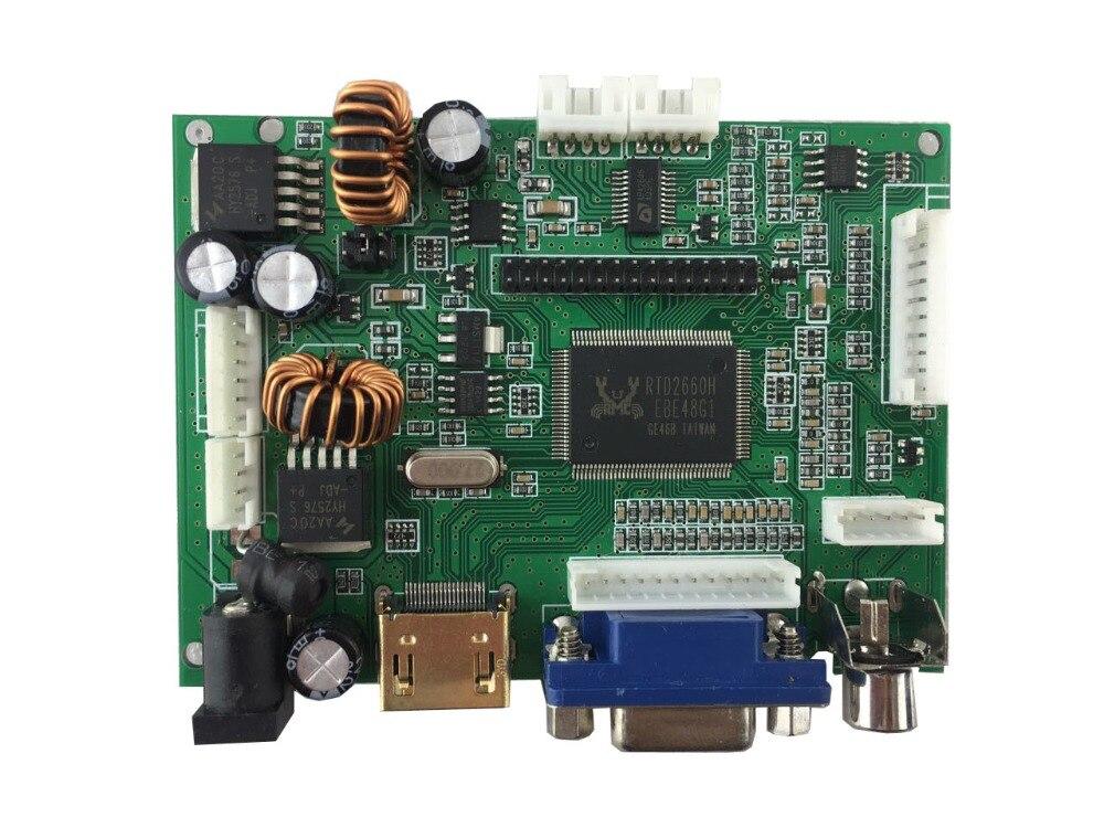 Placa de controlador LCD compatible con HDMI + AV + VGA y resolución de soporte de hasta 1920x1080 (1080 P).
