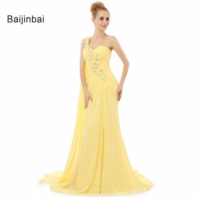 Vestidos amarillos de noche 2019