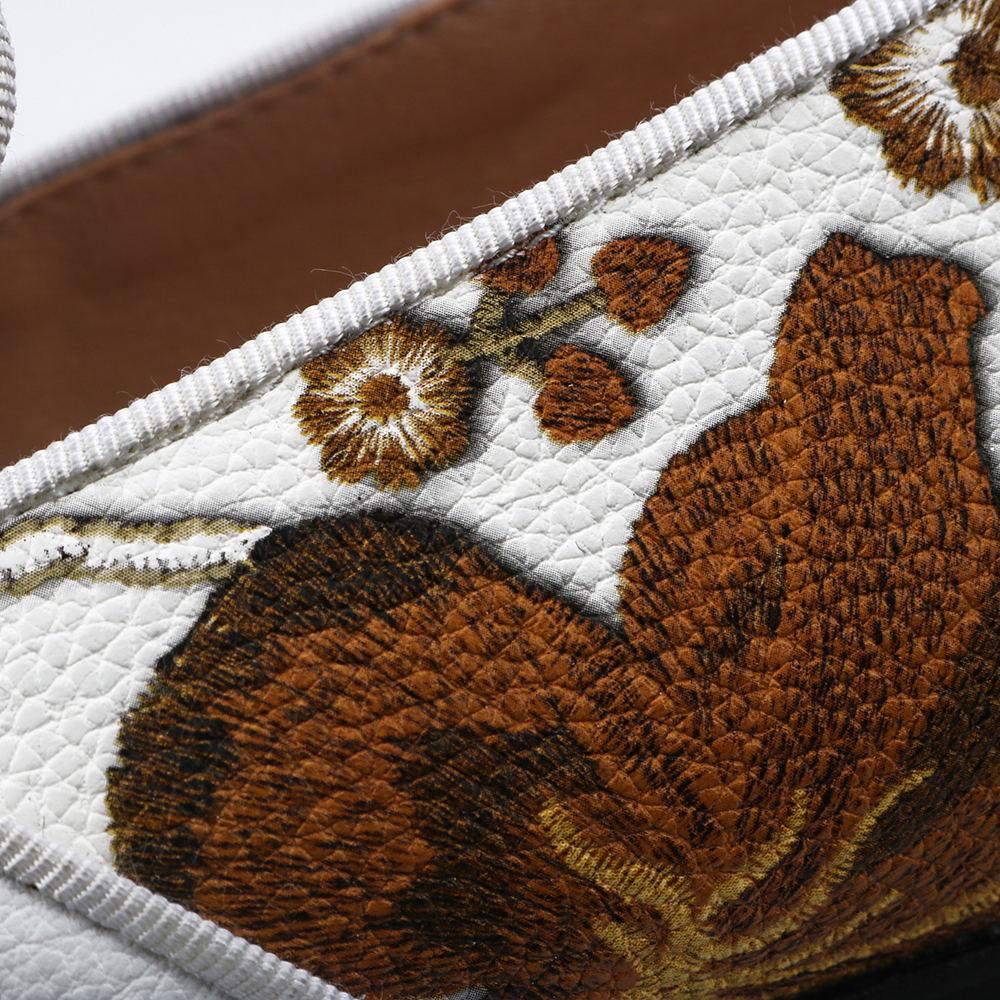 Nian Hua Estampado De Mocasines Vestido Casual Zhi Blanco Zapatos White Original Fiesta Hombres Cuero Moda Diseño Lv TxRdwHxBq