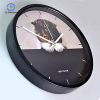 Wall Clock Simple Modern Design Living Room Metal Clocks Nortic Brief Style Cute Cat Wall Watch Art Home Decor Silent