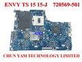 Atacado laptop motherboard 720569-501 para hp ts 15 15-j hm87 750 m/2g 720569-001 notebook systemboard 100% testado 90 dayswarranty