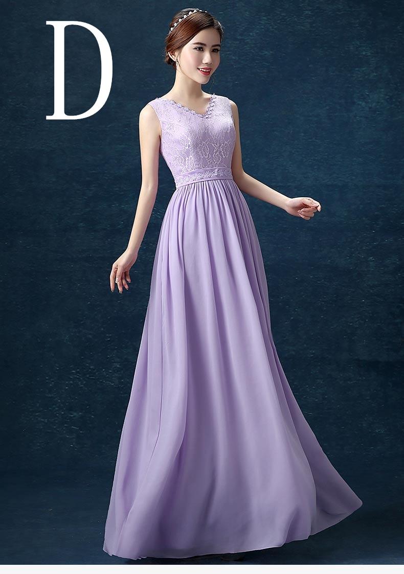 ✓2018 de la gasa larga mujeres personalizar tamaño vestido longitud ...