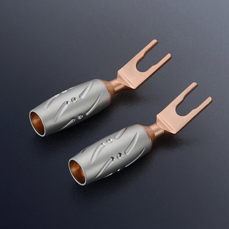 4PCS Viborg VS701 Pure Copper Spade speaker terminal speaker cable plug Y plug hi End