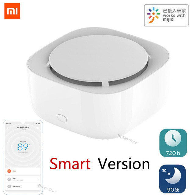 In Stock Xiaomi Mijia Mosquito Repellent Killer smart Version Timing No Heating Fan Drive with led light Work in Mihome app