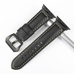 Image 3 - MAIKES جديد خمر جلدية الساعات ل iwatch سوار سوار ساعة يد آبل 44 مللي متر 40 مللي متر 42 مللي متر 38 مللي متر سلسلة 4 3 2 1 حزام ساعة اليد