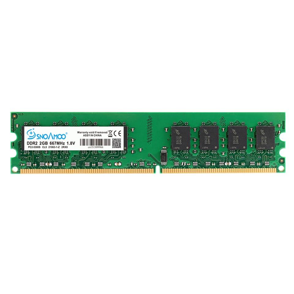 Купить с кэшбэком SNOAMOO RAM PC DDR2 2GBX2pcs 667MHz 800MHz PC2-6400S Desktop RAMs 240-Pin 1.8V DIMM For Compatible Computer Memory Warranty
