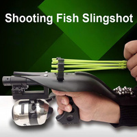 Hunting Fishing Slingshot Catapult Set One Bow With Laser Fishing Reel Handy Fishing Tools Catch Fish Accessories