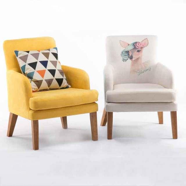 Creative Lazy Nordic Single Sofa Chair Balcony Small Mini Modern Minimalist Bedroom Apartment Lounge