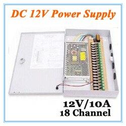 DC12V 10A 18 kanał Adapter do zasilacza dla kamera telewizji przemysłowej system cctv 12V bezpieczeństwa profesjonalne Adapter konwertera