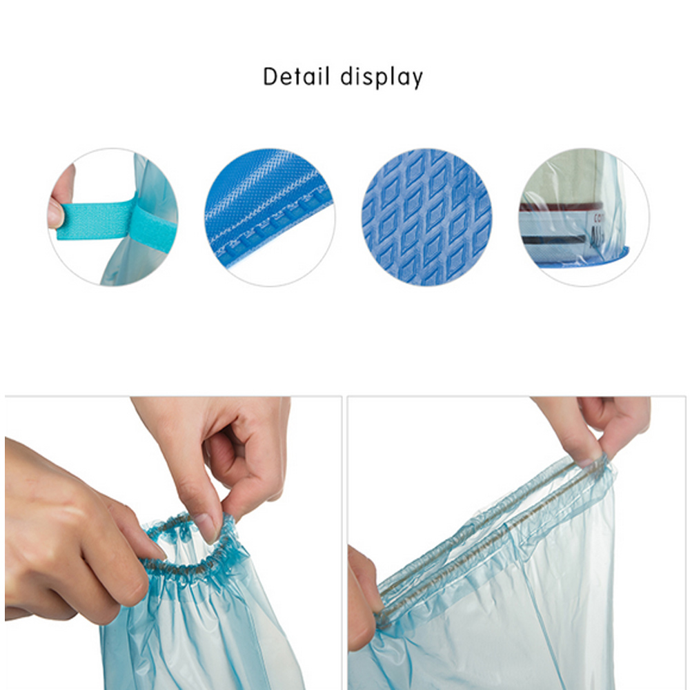 Long and Waterproof Shoe Cover for Men and Women Reusable for Shoes with Anti Slip and Anti Grinding Property 5