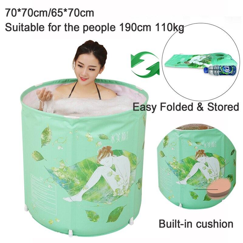 A, 70*70 cm barils de bain gonflables pour adultes baril de bain maison pliante baril de bain enfants baignoire en plastique