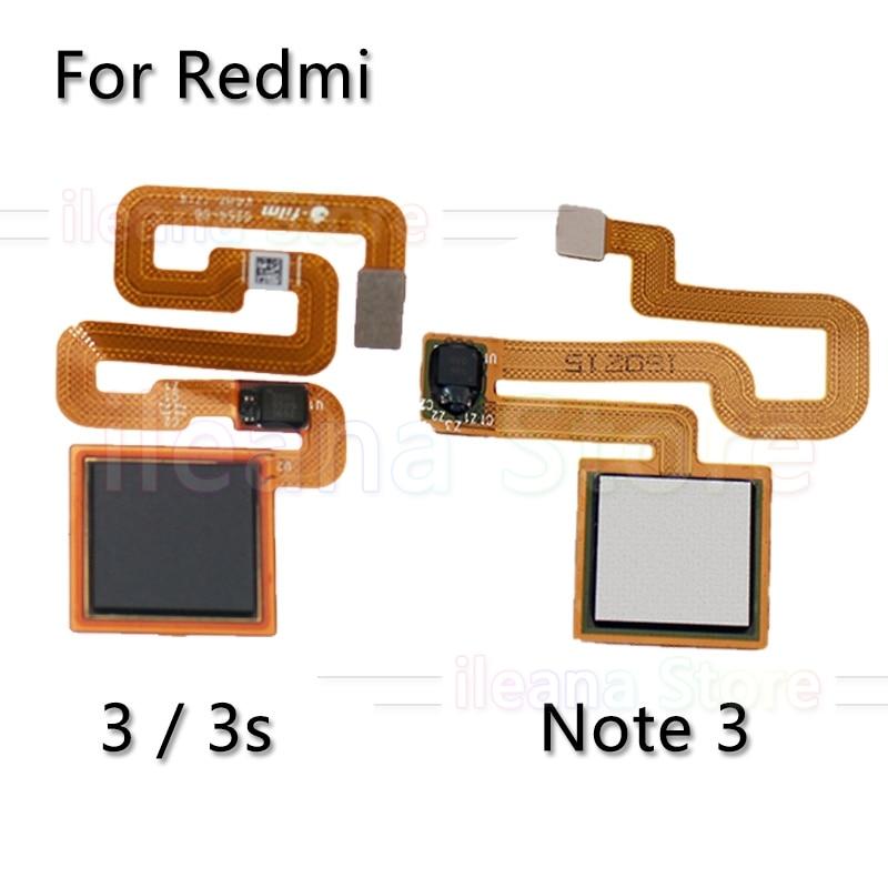 Original Back Home Button Fingerprint Sensor Flex Cable For Xiaomi Redmi Note 3 3s Pro Phone Repair Parts